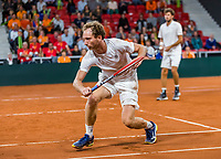 The Hague, The Netherlands, September 16, 2017,  Sportcampus , Davis Cup Netherlands - Chech Republic, Doubles : Robin Haase (NED) / Matwe Middelkoop (NED) (L)<br /> Photo: Tennisimages/Henk Koster