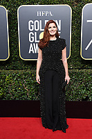 Debra Messing arrives at the 75th Annual Golden Globe Awards at the Beverly Hilton in Beverly Hills, CA on Sunday, January 7, 2018.<br /> *Editorial Use Only*<br /> CAP/PLF/HFPA<br /> &copy;HFPA/Capital Pictures