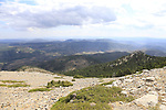 View from the summit of the final Cat 1 climb up to Observatorio Astrofisico de Javalambre during Stage 5 of La Vuelta 2019 running 170.7km from L'Eliana to Observatorio Astrofisico de Javalambre, Spain. 28th August 2019.<br /> Picture: Eoin Clarke | Cyclefile<br /> <br /> All photos usage must carry mandatory copyright credit (© Cyclefile | Eoin Clarke)