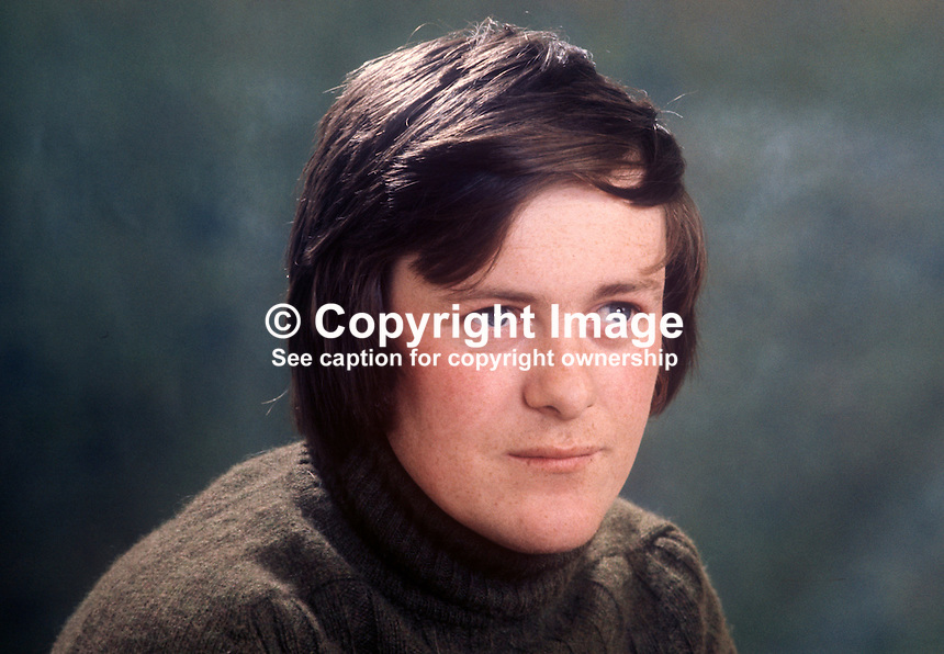 John Slye, news cameraman, RTE, in Belfast, N Ireland. 1973040312<br />