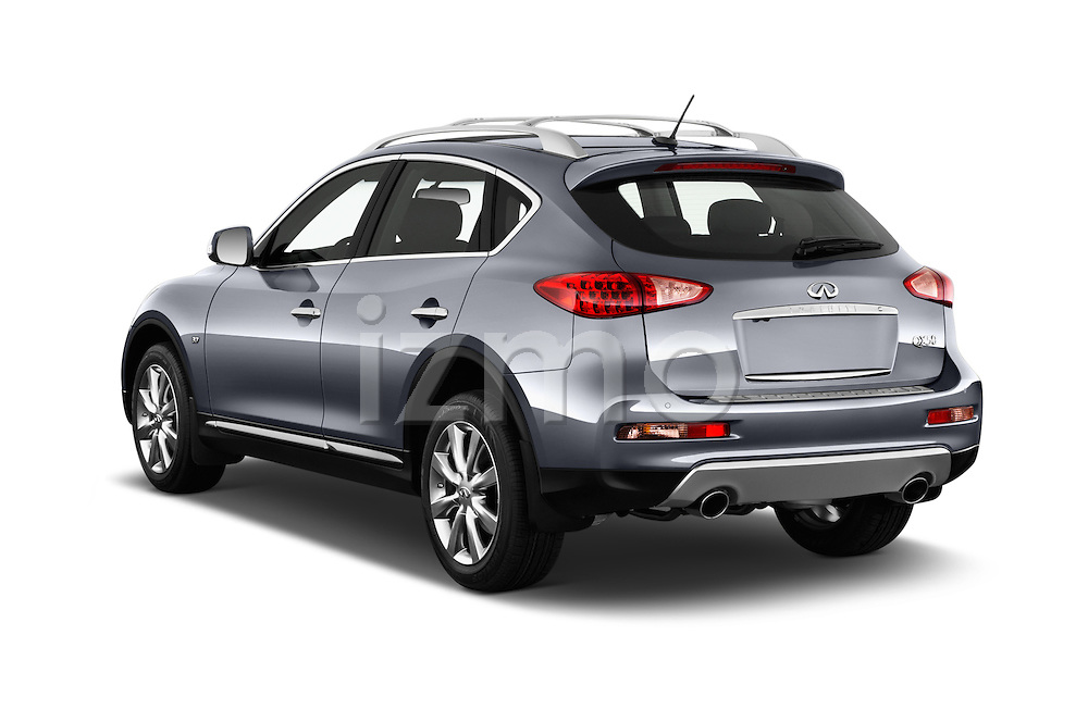 Car pictures of rear three quarter view of 2017 Infiniti QX50 - 5 Door Suv Angular Rear