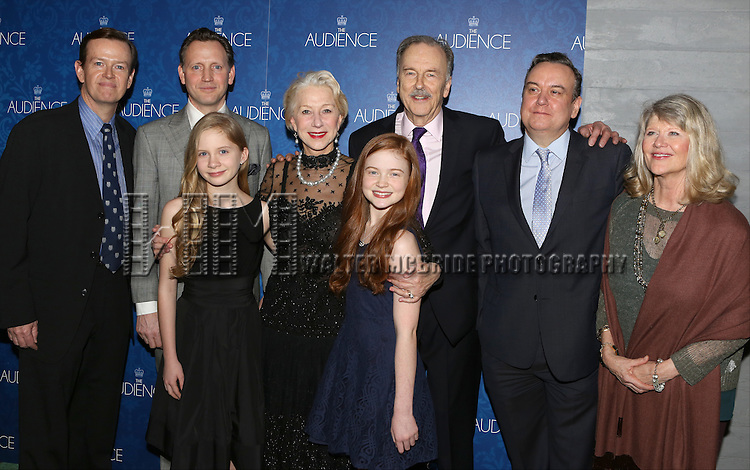 Dylan Baker, Rufus Wright, Elizabeth Teeter, Helen Mirren, Sadie Sink, Michael Elwyn, Richard McCabe and Judith Ivey attends the opening night after party for the Broadway Opening of 'The Audience' at Urbo NYC on March 8, 2015 in New York City.