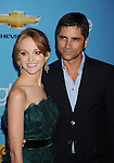 "HOLLYWOOD, CA. - September 07: Jayma Mays and John Stamos attend the ""Glee"" Season 2 Premiere Screening And DVD Release Party at Paramount Studios on September 7, 2010 in Hollywood, California."