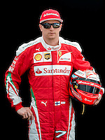 March 17, 2016: Kimi Raikkonen (FIN) #7 from the Scuderia Ferrari team at the drivers' portrait session prior to the 2016 Australian Formula One Grand Prix at Albert Park, Melbourne, Australia. Photo Sydney Low