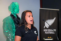 Ali Riley. Football Ferns Collective Bargaining Agreement function at the National Library in Wellington, New Zealand on Wednesday, 6 May 2018. Photo: Dave Lintott / lintottphoto.co.nz