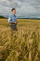 Bryce Wrigley, Barley farmer in Delta Junction, Alaska.