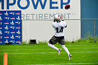 June 6, 2017: New England Patriots wide receiver Brandon Cooks (14) catches a pass over his shoulder at the New England Patriots mini camp held on the practice field at Gillette Stadium, in Foxborough, Massachusetts. Eric Canha/CSM