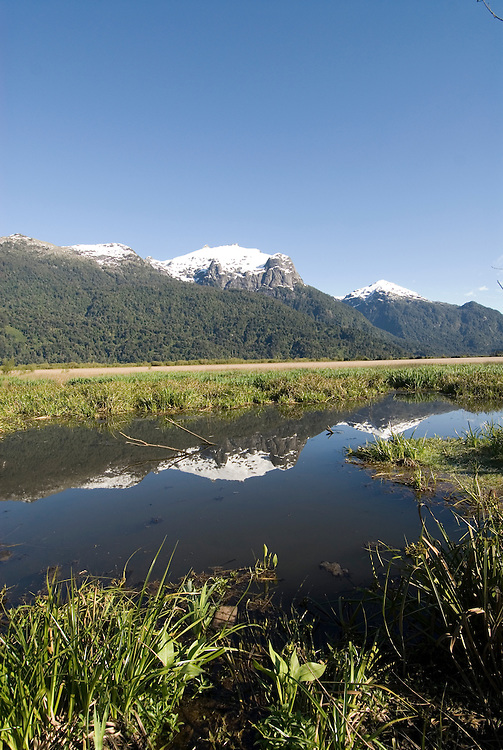 Chile, Lake Country: Beautiful scenery of the Lake Country at Peulla in the Andes..Photo #: ch645-33491..Photo copyright Lee Foster www.fostertravel.com, lee@fostertravel.com, 510-549-2202.