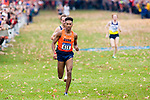 LOUISVILLE, KY - NOVEMBER 18: Justyn Knight #615 of Syracuse University runs to a first place finish during the Division I Men's Cross Country Championship held at E.P. Tom Sawyer Park on November 18, 2017 in Louisville, Kentucky. (Photo by Tim Nwachukwu/NCAA Photos via Getty Images)