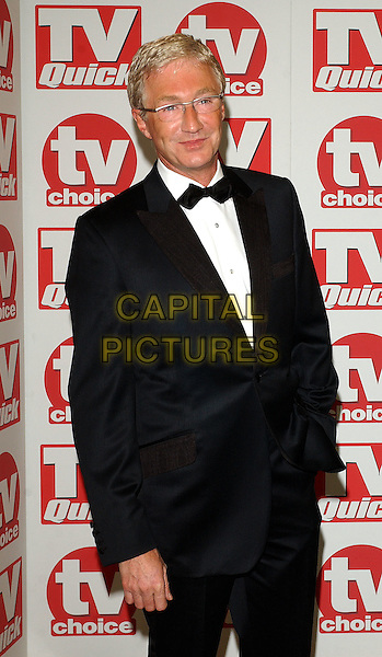 PAUL O'GRADY.TV Quick & TV Choice Awards at the Dorchester Hotel, London..September 5th, 2005.Ref: BEL.half length tuxedo.www.capitalpictures.com.sales@capitalpictures.com.© Capital Pictures.