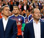 Nederland, Amsterdam, 3 september 2015<br /> Kwalificatiewedstrijd EK 2016<br /> Nederland-IJsland<br /> Assistent Marco van Basten en bondscoach Danny Blind.