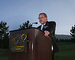 Michael Russell, Chair, Children's Cabinet Board of Trustees speaks during the Art of Childhood Gala and Fundraiser at Montreux Golf and Country Club on Friday, August 24, 2018.