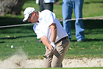 Michale Jonzon (SWE) chips out of a bunker at the 1st green in action during the Final Day Sunday of the Open de Andalucia de Golf at Parador Golf Club Malaga 27th March 2011. (Photo Eoin Clarke/Golffile 2011)