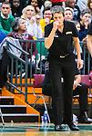 S&ouml;dert&auml;lje 2015-11-21 Basket EM-kval Sverige - Spanien :  <br /> Sveriges Head coach tr&auml;nare Jurgita Kausaite ser nedst&auml;md ut under matchen mellan Sverige och Spanien <br /> (Foto: Kenta J&ouml;nsson) Nyckelord:  T&auml;ljehallen Basket Landslag Landslaget Dam Damer Dambasket Dambasketlandslaget Basketlandslaget Sverige Sweden Svenska EM Kval EM-kval Spanien Spain Spanska tr&auml;nare manager coach portr&auml;tt portrait depp besviken besvikelse sorg ledsen deppig nedst&auml;md uppgiven sad disappointment disappointed dejected