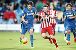 Getafe's Santiago Vergini (l) and Atletico de Madrid's Saul Niguez during La Liga match. February 14,2016. (ALTERPHOTOS/Acero)