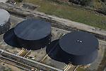 Aerial view of petroleum terminals outside philadelphia
