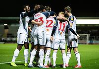 Bolton Wanderers' players celebrate an opening goal from Ryan Delaney <br /> <br /> Photographer Andrew Kearns/CameraSport<br /> <br /> The Premier League - Leicester City v Aston Villa - Monday 9th March 2020 - King Power Stadium - Leicester<br /> <br /> World Copyright © 2020 CameraSport. All rights reserved. 43 Linden Ave. Countesthorpe. Leicester. England. LE8 5PG - Tel: +44 (0) 116 277 4147 - admin@camerasport.com - www.camerasport.com
