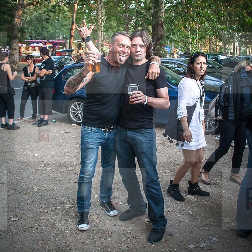 I fans di Alice Cooper al concerto di Milano..Alice Cooper fans at the concert in Milan