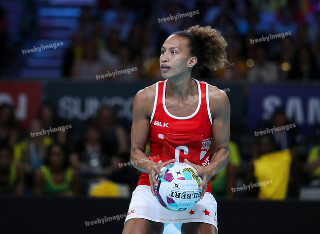 29/10/17 Fast5 2017<br /> Fast 5 Netball World Series<br /> Hisense Arena Melbourne<br /> Grand Final Jamaica v England<br /> <br /> Serena Guthrie<br /> <br /> <br /> <br /> <br /> Photo: Grant Treeby