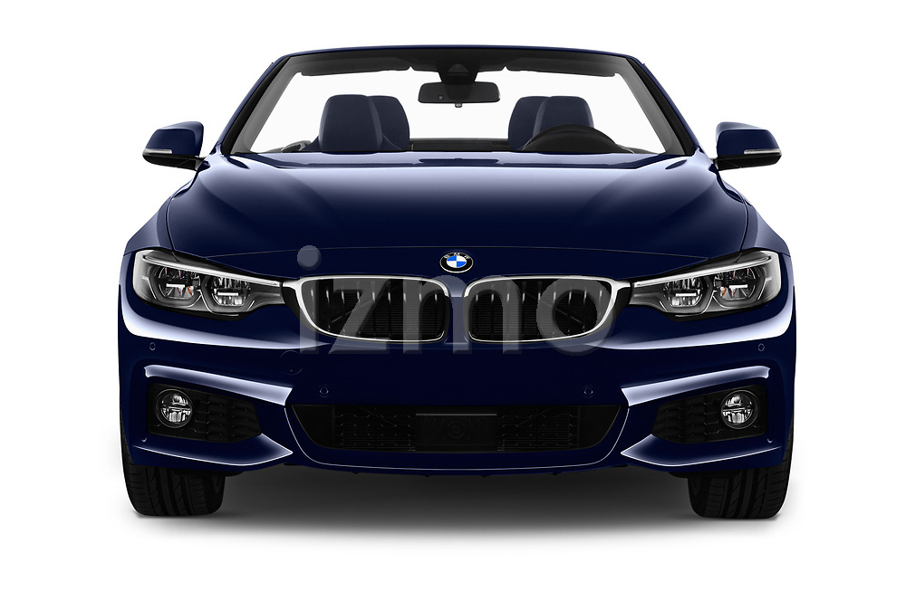 Car photography straight front view of a 2018 BMW 4 Series M Sport 2 Door Convertible