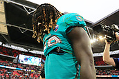 1st October 2017, Wembley Stadium, London, England; NFL International Series, Game Two; Miami Dolphins versus New Orleans Saints; A dejected Jay Ajayi of the Miami Dolphins