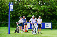 Morgan Pressel (USA), Haru Nomura (JPN), and Catriona Matthew (SCT) prepare to tee off on 11 during Thursday's round 1 of the 2017 KPMG Women's PGA Championship, at Olympia Fields Country Club, Olympia Fields, Illinois. 6/29/2017.<br /> Picture: Golffile | Ken Murray<br /> <br /> <br /> All photo usage must carry mandatory copyright credit (&copy; Golffile | Ken Murray)