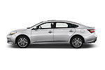 Car driver side profile view of a 2018 Toyota Avalon Limited Hybrid 4 Door Sedan