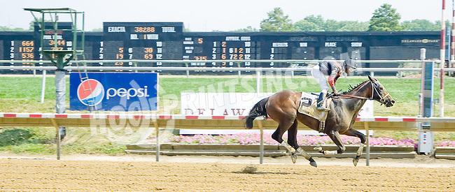 Splash Landing winning at Delaware Park on 7/16/12
