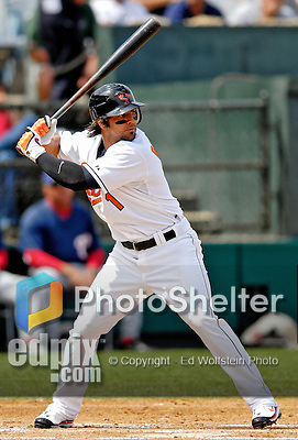 9 March 2007: Baltimore Orioles second baseman Brian Roberts in action against the Washington Nationals at Fort Lauderdale Stadium in Fort Lauderdale, Florida. <br /> <br /> Mandatory Photo Credit: Ed Wolfstein Photo