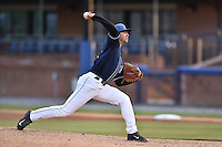 Asheville Tourists starting pitcher Blake Shouse (11) delivers a pitch during game two of a double header against the Hickory Crawdads on April 21, 2015 in Asheville, North Carolina. The Crawdads defeated the Tourists 5-4. (Tony Farlow/Four Seam Images)