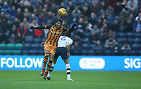 Hull City's Fraizer Campbell competes with Preston North End's Ben Davies<br /> <br /> Photographer Stephen White/CameraSport<br /> <br /> The EFL Sky Bet Championship - Preston North End v Hull City - Wednesday 26th December 2018 - Deepdale Stadium - Preston<br /> <br /> World Copyright &copy; 2018 CameraSport. All rights reserved. 43 Linden Ave. Countesthorpe. Leicester. England. LE8 5PG - Tel: +44 (0) 116 277 4147 - admin@camerasport.com - www.camerasport.com