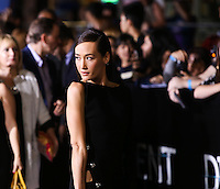 "WESTWOOD, LOS ANGELES, CA, USA - MARCH 18: Maggie Q at the World Premiere Of Summit Entertainment's ""Divergent"" held at the Regency Bruin Theatre on March 18, 2014 in Westwood, Los Angeles, California, United States. (Photo by Xavier Collin/Celebrity Monitor)"
