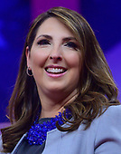Ronna McDaniel, Chair, Republican National Committee, speaks at the Conservative Political Action Conference (CPAC) at the Gaylord National Resort and Convention Center in National Harbor, Maryland on Thursday, February 28, 2019.<br /> Credit: Ron Sachs / CNP