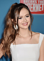 HOLLYWOOD, CA - NOVEMBER 05: Olivia Sanabia attends the Premiere Of Disney's 'Ralph Breaks The Internet' at the El Capitan Theatre on November 5, 2018 in Los Angeles, California.<br /> CAP/ROT/TM<br /> &copy;TM/ROT/Capital Pictures