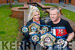 Kickboxer Mike O'Brien pictured with his daughter Naomi