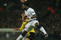 Serge Aurier of Tottenham Hotspur and Marcel Schmelzer of Borussia Dortmund during Tottenham Hotspur vs Borussia Dortmund, UEFA Champions League Football at Wembley Stadium on 13th February 2019