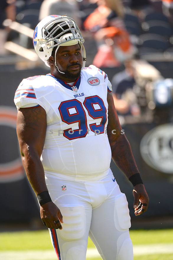 Buffalo Bills Marcell Dareus (99) during a game against the Chicago Bears on September 7, 2014 at Soldier Field in Chicago, IL. The Bills beat the Bears 23-20.