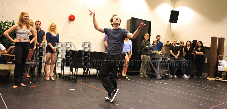 Rob McClure & Company.performing in the Press Preview of the New Broadway Show 'Chaplin The Musical'  at Foxwoods Theater Rehearsal Studios on August 7, 2012 in New York City.