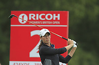 Laetitia Beck (ISR) on the 2nd tee during Round 2 of the Ricoh Women's British Open at Royal Lytham &amp; St. Annes on Friday 3rd August 2018.<br /> Picture:  Thos Caffrey / Golffile<br /> <br /> All photo usage must carry mandatory copyright credit (&copy; Golffile | Thos Caffrey)