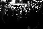 The crowd is celebrating the victory of a boxer during the preliminaries of the 2005 Daily News Golden Gloves at Copacabana (Manhattan) on March 2nd.