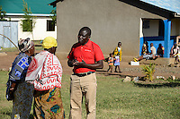 TANZANIA Mara, Tarime, village Masanga, region of the Kuria tribe who practise FGM Female Genital Mutilation, temporary rescue camp of the Diocese Musoma for girls which escaped from their villages to prevent FGM / TANSANIA Mara, Tarime, Dorf Masanga, in der Region lebt der Kuria Tribe, der FGM weibliche Genitalbeschneidung praktiziert, temporaerer Zufluchtsort fuer Maedchen, denen in ihrem Dorf Genitalverstuemmelung droht, in einer Schule der Dioezese Musoma, Lehrer THOMAS MURUGA