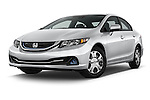 Stock pictures of low aggressive front three quarter view of a 2014 Honda Civic Hybrid Hybrid CVT 4 Door Sedan Low Aggressive