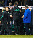 9.3.2018: Hibs v Hearts:<br /> Neil Lennon and Craig Levein at the final whistle