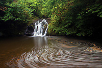 Waterfall and the Killoch Water, Killoch Glen, Gateside, Barrhead, East Renfrewshire