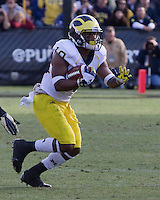 Michigan wide receiver Jeremy Gallon. The Michigan Wolverines defeated the Purdue Boilermakers 44-13 on October 6, 2012 at Ross-Ade Stadium in West Lafayette, Indiana.