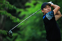 Ashun Wu (CHN) during previews for the Shot Clock Masters, Diamond Country Club, Atzenbrugg, Vienna, Austria. 06/06/2018<br /> Picture: Golffile | Phil Inglis<br /> <br /> All photo usage must carry mandatory copyright credit (&copy; Golffile | Phil Inglis)