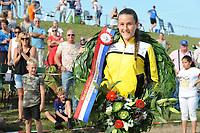 FIERLJEPPEN/POLSTOKVERSPRINGEN: 26-08-2017 Jaarsveld, Nederlands kampioenschap, meisjes Demi Groothedde 15.62 m, ©foto Martin de Jong
