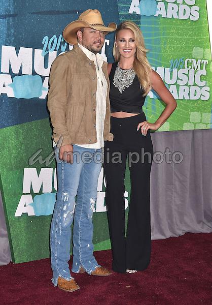 10 June 2015 - Nashville, Tennessee - Jason Aldean, Brittany Kerr. 2015 CMT Music Awards held at Bridgestone Arena. Photo Credit: Laura Farr/AdMedia