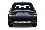 Straight rear view of a 2019 BMW X5 x Line 5 Door SUV stock images