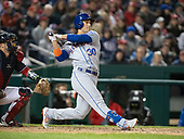 New York Mets right fielder Michael Conforto (30) bats in the eighth inning against the Washington Nationals at Nationals Park in Washington, D.C. on May 14, 2019.  He grounded out to the pitcher to end the at bat.  The Mets won the game 6 - 2.<br /> Credit: Ron Sachs / CNP<br /> (RESTRICTION: NO New York or New Jersey Newspapers or newspapers within a 75 mile radius of New York City)